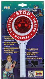 Theo Klein 8858 Kielnia policyjna z serii Police Unit Ben & Sam Zasilana bateriami tarcza z fajnymi, migającymi światełkami Wymiary: 16 cm x 3,5 cm x 29 cm Zabawki dla dzieci od 3. roku życia