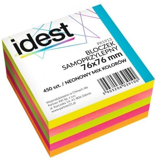 Bloczek samoprzylepny Oficio, 76 x 76 mm, 450 kartek, mix neonowy -  Rabaty  Porady  Hurt  Wyceny   sklep@solokolos.pl   tel.(34)366-72-72