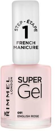 Rimmel London Super Gel French Manicure STEP1 lakier do paznokci 12 ml dla kobiet 091 English Rose