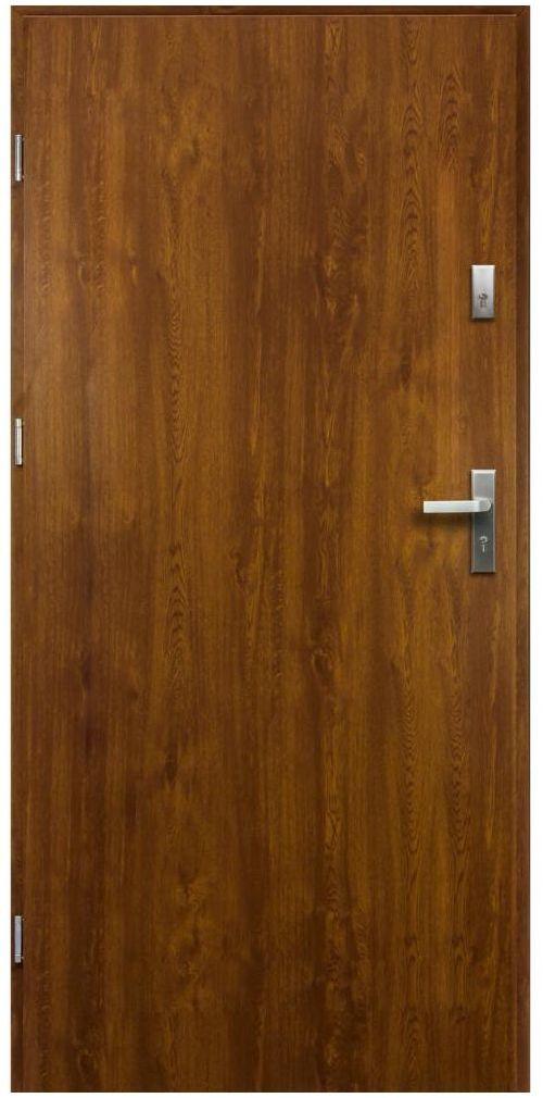Drzwi zewnętrzne stalowe Artemida Złoty Dąb 90 Lewe