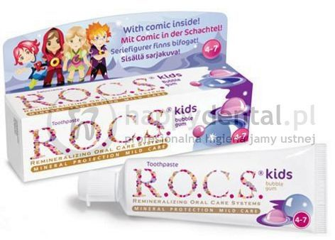 R.O.C.S. KIDS Bubble-GUM 35ml - pasta do zębów dla dzieci od 4 do 7 lat