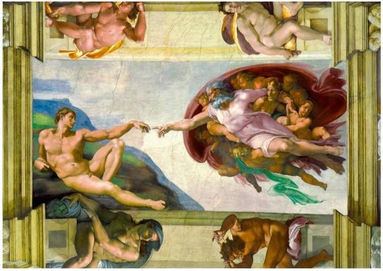 Puzzle 1000 Stworzenie Adama, Michał Anioł - Bluebird Puzzle