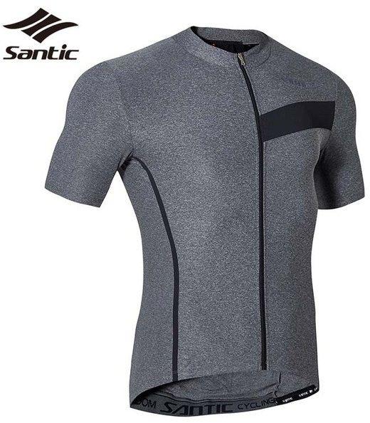 SANTIC M7C02116ER Męska koszulka rowerowa, szara Rozmiar: 2XL,santic_m7c02116er