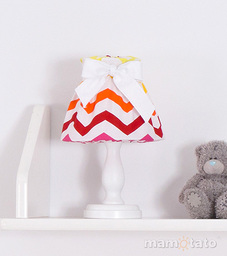 MAMO-TATO Lampka Nocna Zygzak żółto-czerwony
