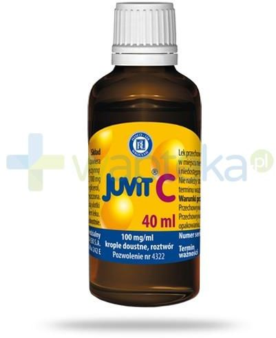 Juvit C krople doustne z witaminą C dla dzieci od 28 dnia życia 40 ml