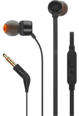 Przewodowe słuchawki dokanałowe JBL T110 Czarny