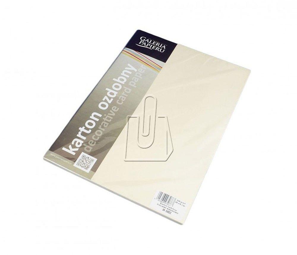 Papier ozdobny Premium ARGO A4 220g Iceland Kremowy 20 Arkuszy /200602/