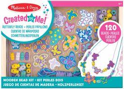 Melissa & Doug Zestaw koralików z motylami przyjaciele sztuka i rzemiosło DIY 4+ prezent dla chłopca lub dziewczyny
