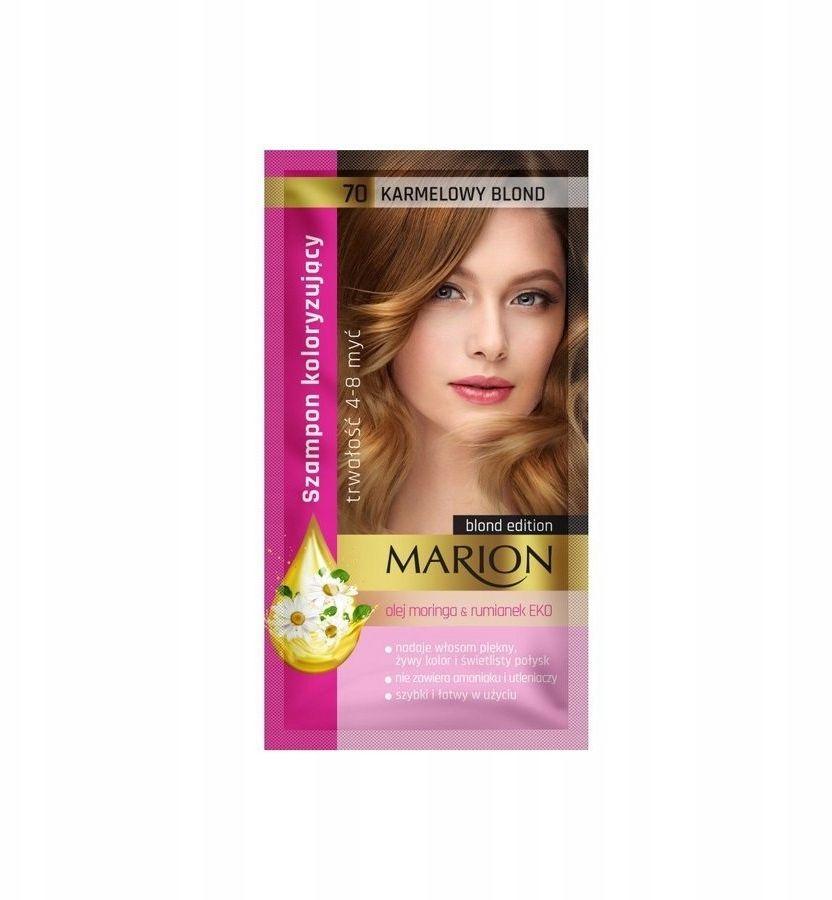 Marion Szampon koloryzujący 4-8 myć Karmelowy blond 40ml