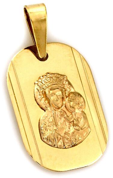 Złoty medalik 333 Matka Boska w owalu 0,77g