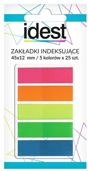 Zakładki indeksujące Pet Oficio, 12 x 45 mm, neonowe, folia, 5 x 25 sztuk -  Rabaty  Porady  Hurt  Wyceny   sklep@solokolos.pl   tel.(34)366-72-72