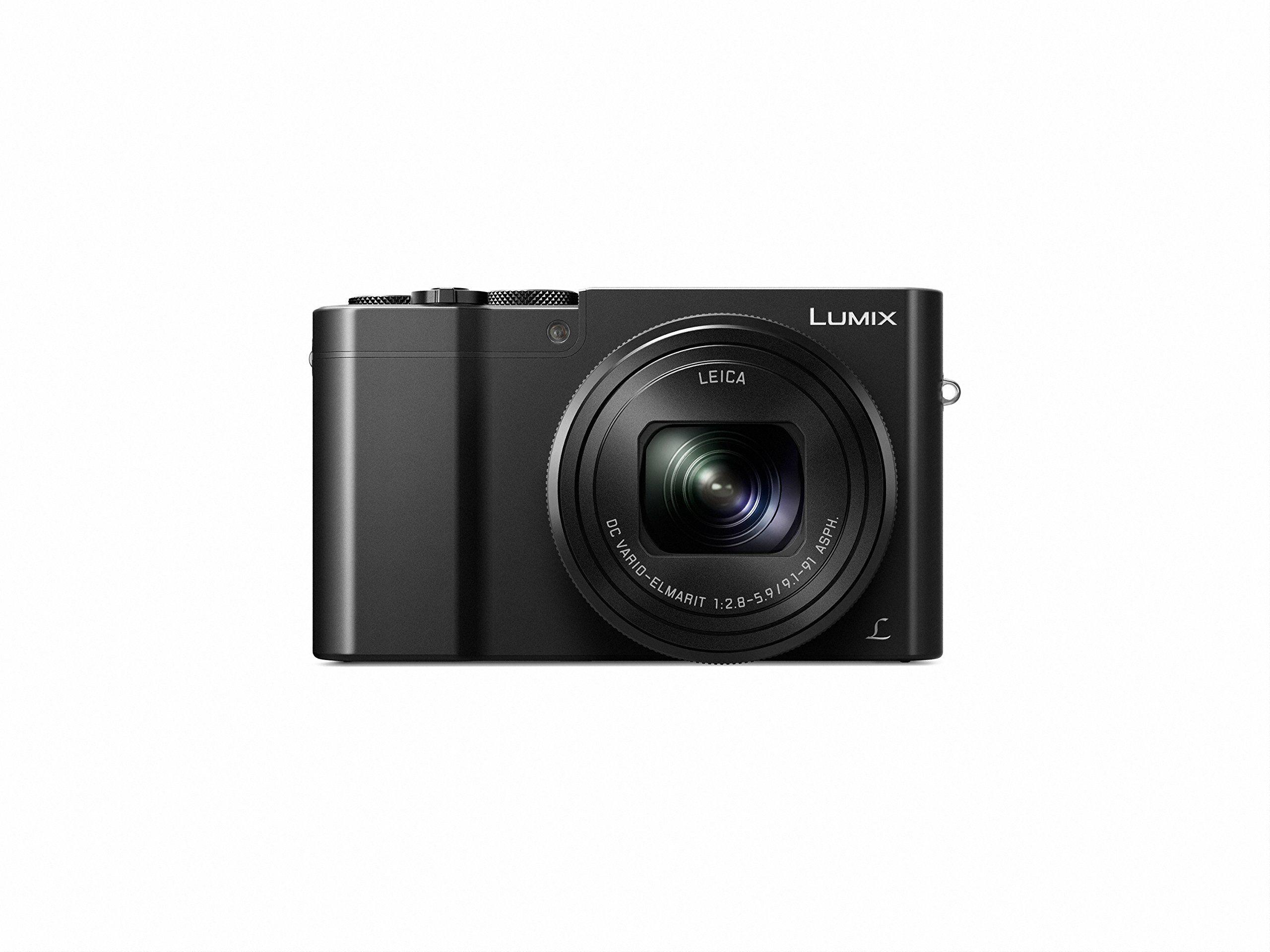 """Panasonic Lumix DMC-TZ101EGK Travelzoom aparat (20,1 megapikseli, 10x zoom optyczny 10x wyświetlacz o przekątnej 7,6 cm (3""""), 4K zdjęcia 30B/s, ostrość pocztowa, wideo 4K25p, wizjer, czarny)"""