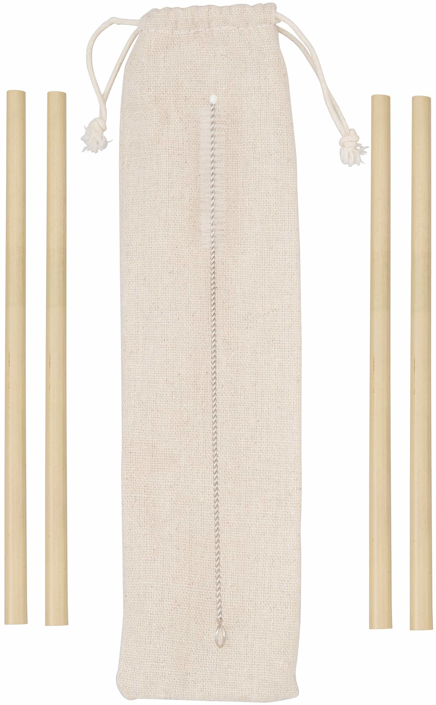 Premier Housewares 1405401 słomki wielokrotnego użytku, bambusowe
