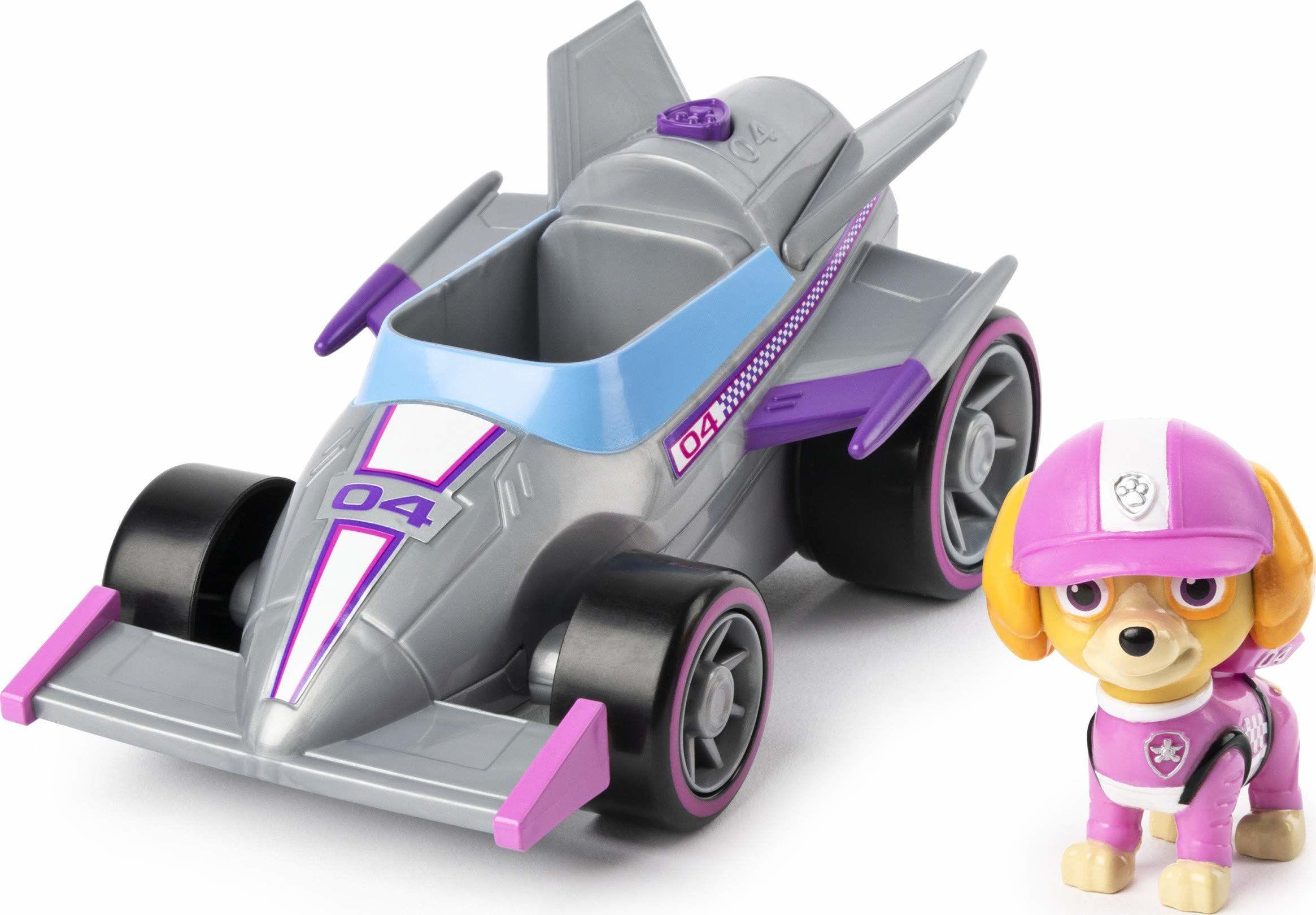 PAW Patrol Ready, Race, Rescue Skye''s Race and Go Deluxe pojazd z dźwiękami, dla dzieci w wieku od 3 lat,