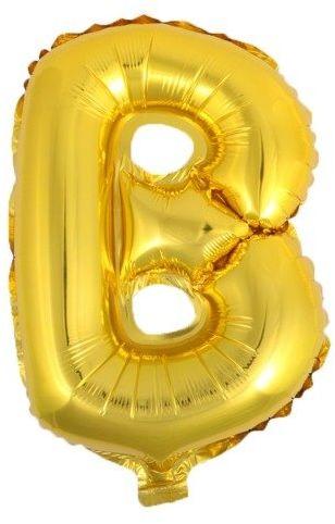 Balon foliowy B złoty 41cm 1szt BF41-B-ZLO