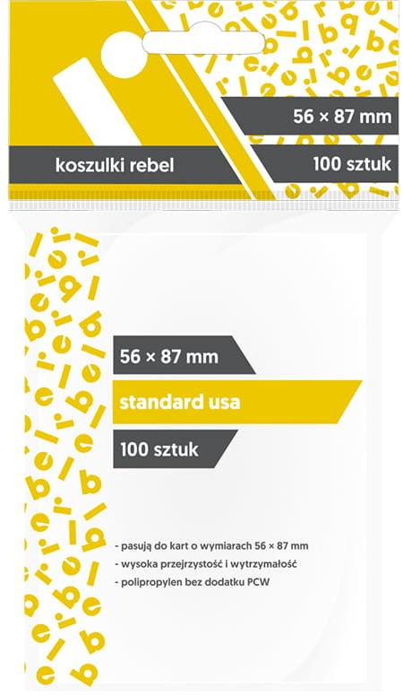 "Koszulki na karty Rebel (56x87 mm) ""Standard USA"", 100szt"