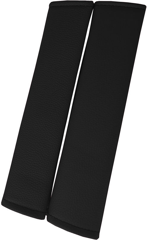 Nakładki samochodowe Skórzane nakładki na pasy, kolor czarny
