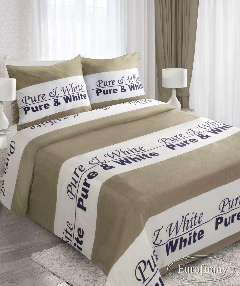 Pościel satynowa 160x200 Candy Pure&White biało srebrna Modern Line