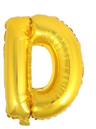 Balon foliowy D złoty 41cm 1szt BF41-D-ZLO