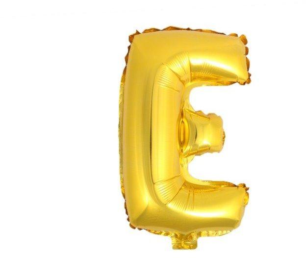 Balon foliowy E złoty 41cm 1szt BF41-E-ZLO