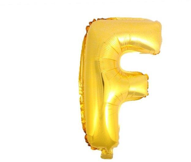 Balon foliowy F złoty 41cm 1szt BF41-F-ZLO