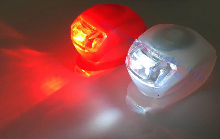 Lampki rowerowe silikonowe LED przód i tył