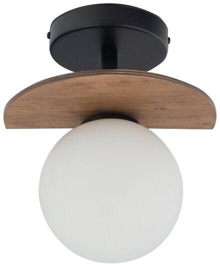 Klasyczna lampa sufitowa do biura MIRROR G9 12W szer. 21cm czarny brązowy
