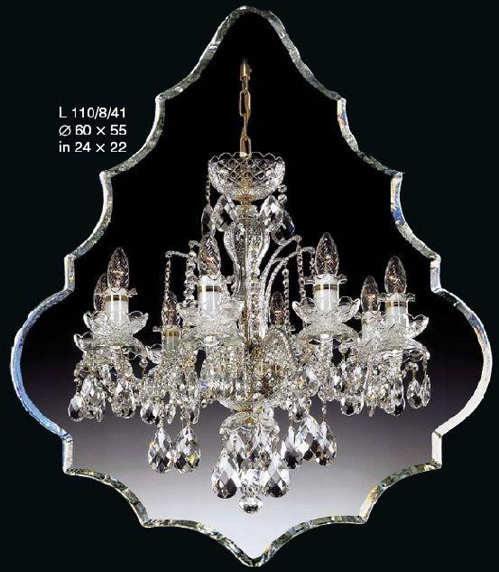 Żyrandol kryształowy 8-ramienny - Elite Bohemia