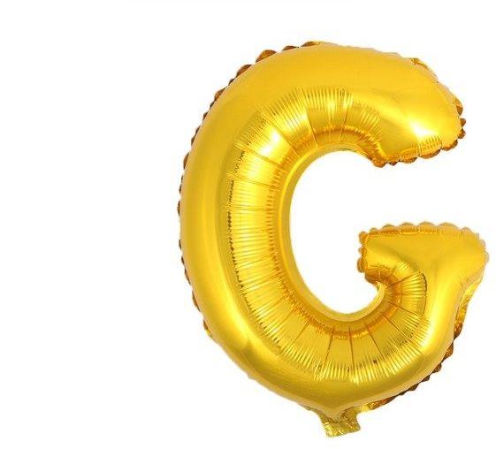Balon foliowy G złoty 41cm 1szt BF41-G-ZLO