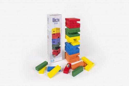 Wieża kolorowa klocki drewniane Albi