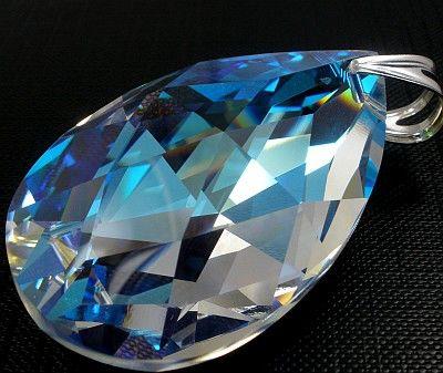 SUPER CENA SWAROVSKI DUŻY WISIOR 50MM BLUE AURORA