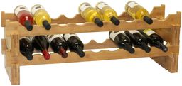 Oceanstar Stojak na wino bambusowe z 18 butelek
