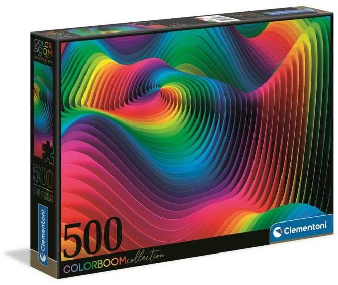 Puzzle 500 color boom Fale 35093 - Clementoni