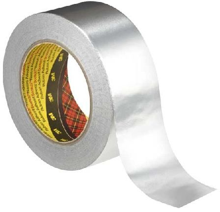 3M 1436 aluminiowa taśma klejąca z podkładem papierowym, tl. 0,075 mm, 50 mm x 50 m