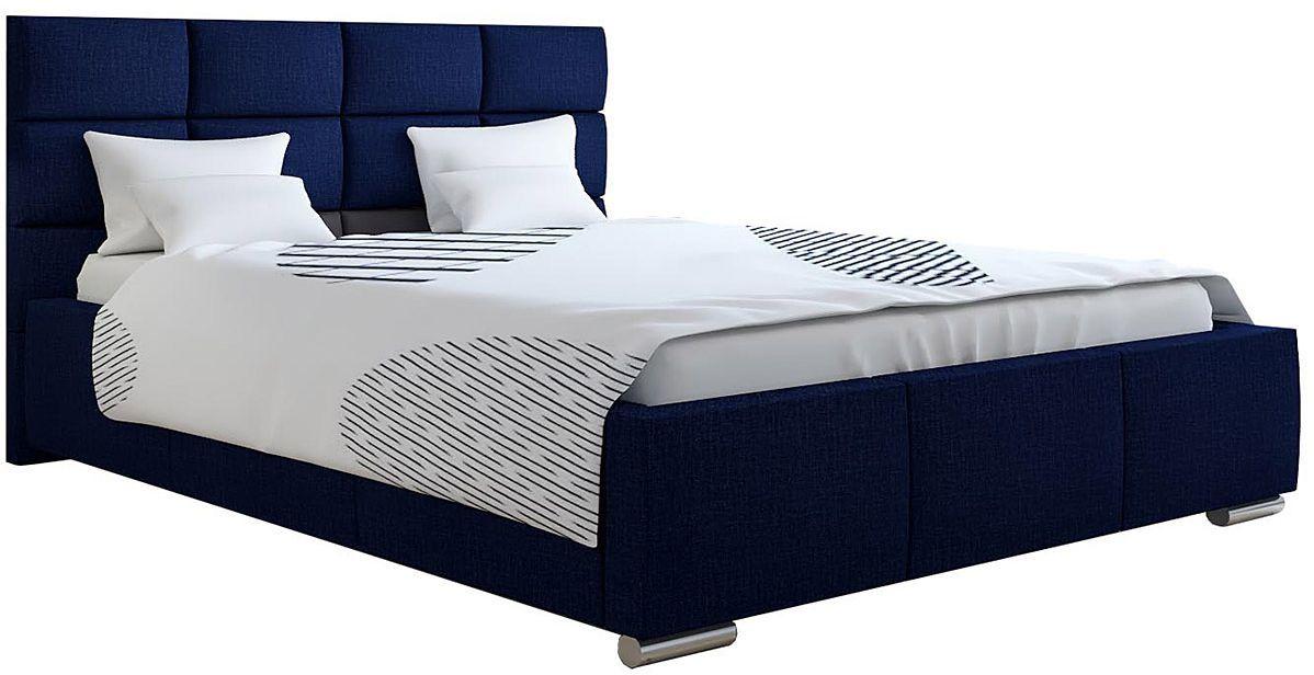Tapicerowane łóżko z zagłówkiem 120x200 Campino 2X - 48 kolorów