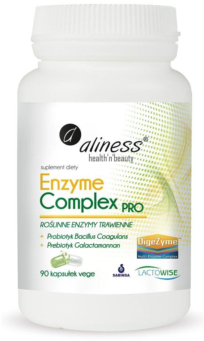 Enzymy Trawienne z Roślin Enzyme Complex PRO (90 kaps) Aliness