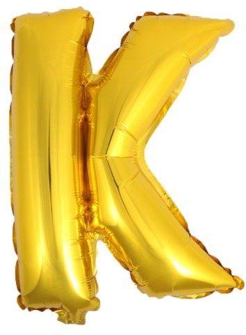 Balon foliowy K złoty 41cm 1szt BF41-K-ZLO