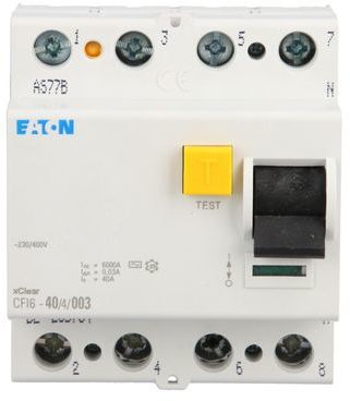 Wyłącznik różnicowoprądowy 4P 40A 0,03A typ AC CFI6 40/4/003 235784