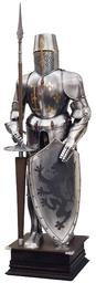 ZBROJA RYCERSKA 1:1 Z XVI w. Z TARCZĄ I KOPIĄ repliki broni (905)