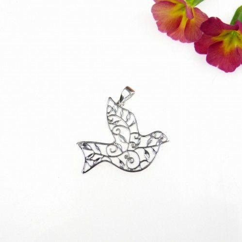 Rajski ptak - zawieszka srebrna