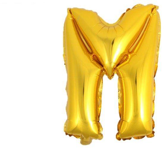 Balon foliowy M złoty 41cm 1szt BF41-M-ZLO