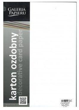 Papier ozdobny Premium ARGO A4 220g Millenium biały 20 Arkuszy /200703/