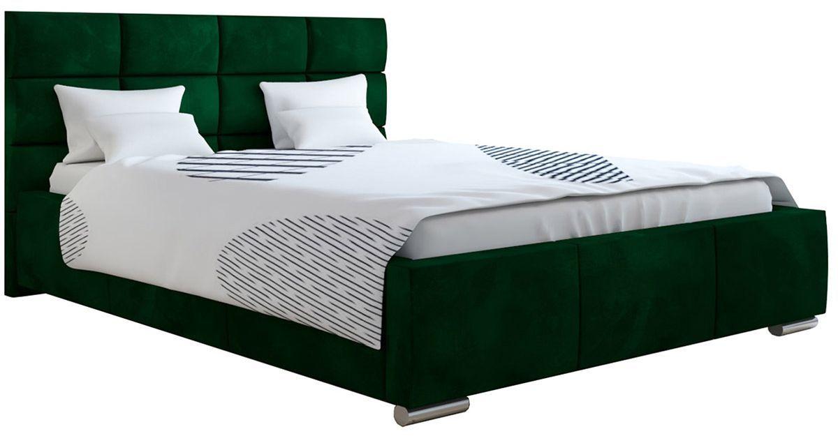 Podwójne łóżko z zagłówkiem 140x200 Campino 2X - 48 kolorów