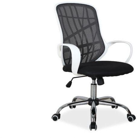 Fotel biurowy DEXTER czarny/biały  Kupuj w Sprawdzonych sklepach