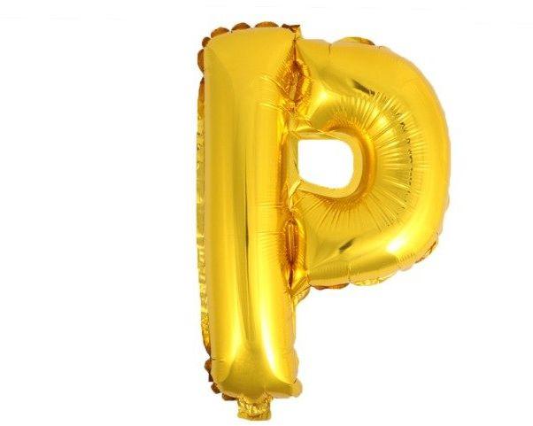 Balon foliowy P złoty 41cm 1szt BF41-P-ZLO