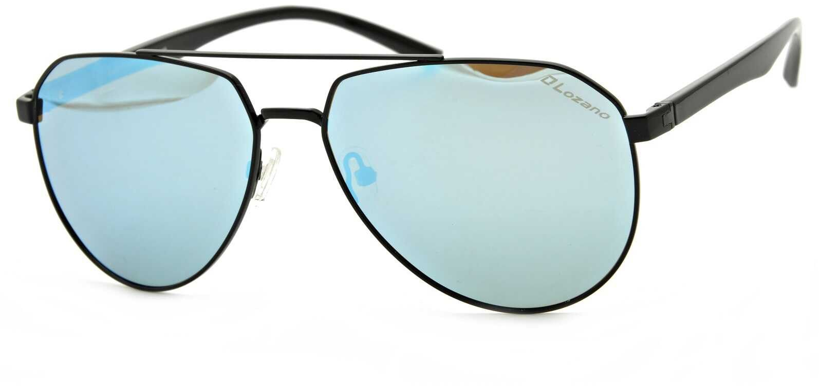 Okulary Pilotki LOZANO PJ821C5-B75 Polaryzacyjne lustrzane