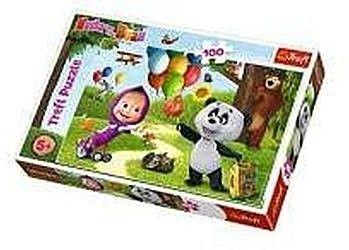 Trefl Puzzle dla Dzieci 100 El. Masza i Niedźwiedź Trefl 5638-uniw