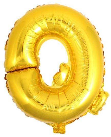 Balon foliowy Q złoty 41cm 1szt BF41-Q-ZLO
