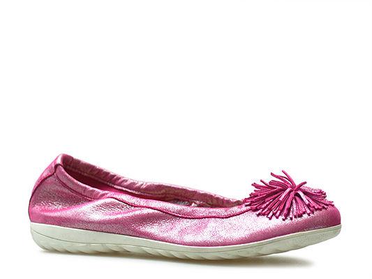Baleriny Caprice 9-22116-22 Różowe brokat