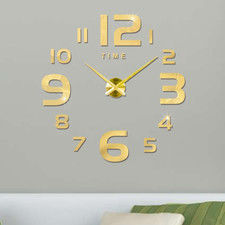 """Zegar ścienny """"zrób to sam"""" #22G4 złoty/315mm"""